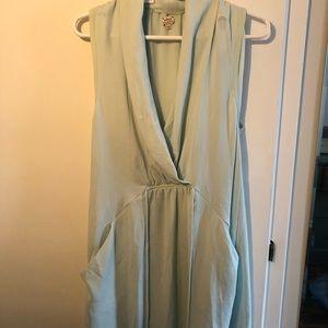 Aritzia Sabine Wrap Dress, Mint/Teal Size Medium